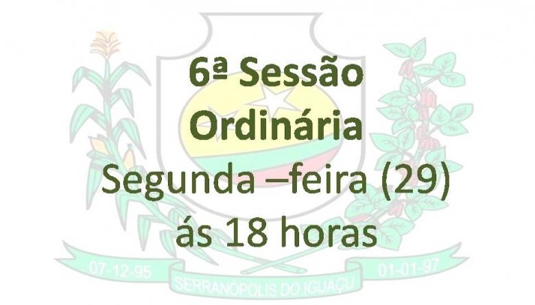 6ªSessão Ordinária