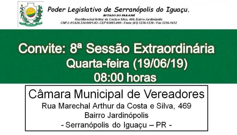 8º Sessão Extraordinária