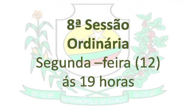 8ª Sessão Ordinária
