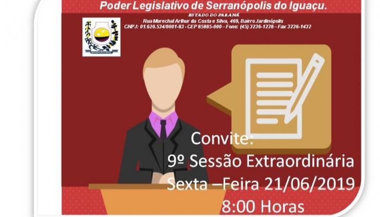 9º Sessão Extraordinária