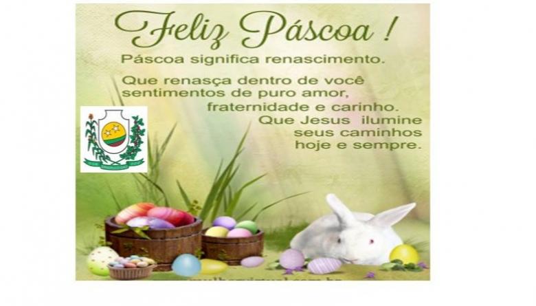 Desejamos uma abençoada Páscoa