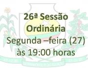 26ª Sessão Ordinária