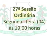 27ª Sessão Ordinária